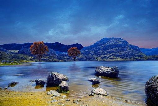 Landscape, Laguna, Nature, Mountain, Sky, Holiday