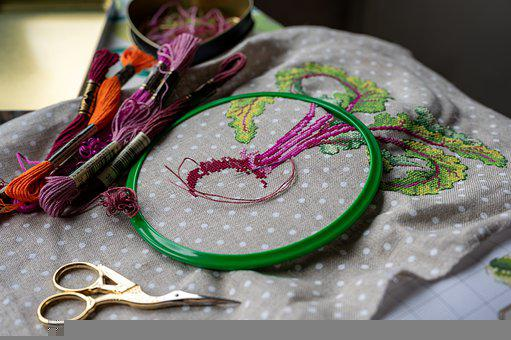 Embroidery, Needlework, The Hoop, Cross Stitch, Sewing