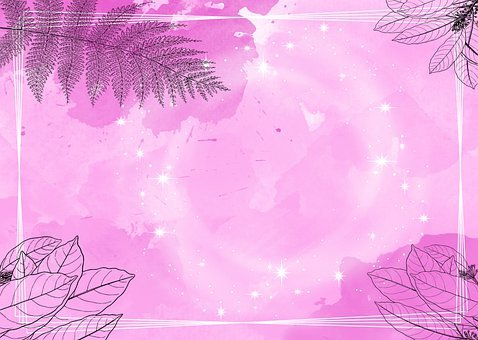 Flowers, Leaves, Background, Pink, Star, Plant, Fern