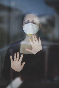 Woman, Mask, Medical Mask, N95, Wearing Mask, Portrait