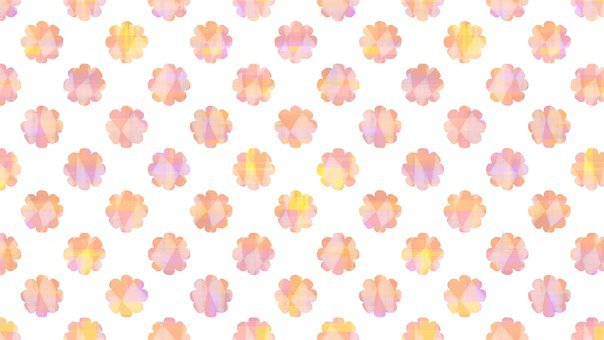 Flowers, Floral, Background, White, Pink, Childish