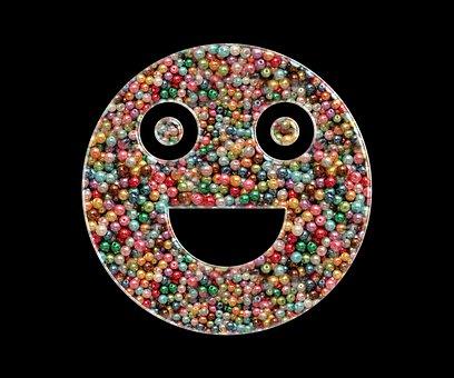 Emoji, Smile, Beads, Beaded, Smiley, Happy, Face