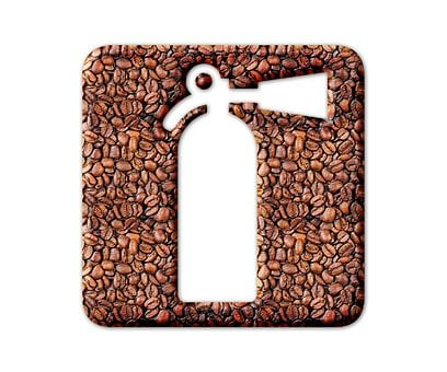 Fire Extinguisher, Coffee Beans, Icon, Coffee