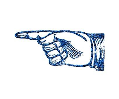 Pointer Finger, Hand, Blue Glitter, Finger