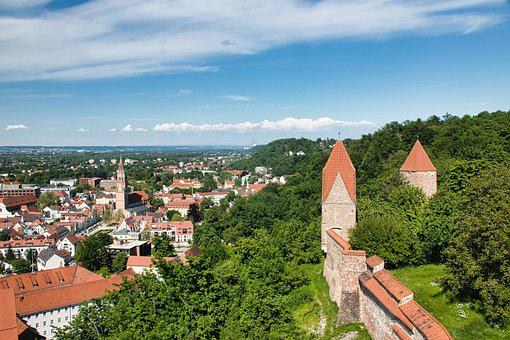 Castle, Fortress, Building, Wall, Middle Ages, Germany