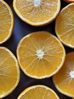 Oranges, Fruit, Sliced, Fresh, Vitamins, Healthy