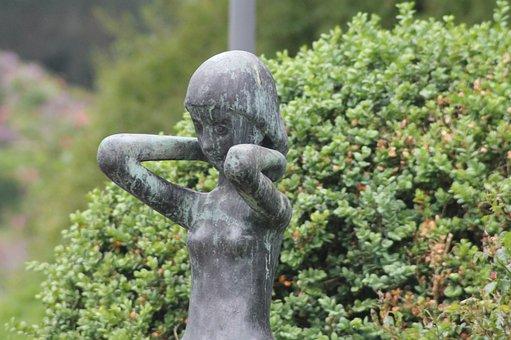 Park, Statue, Sculpture, Art, Bronze, Outdoors, Figure