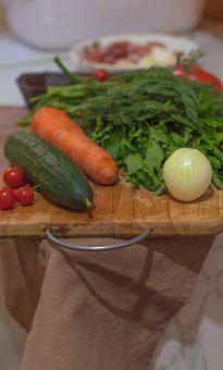 Vegetables, Tomatoes, Cucumber, Carrot, Parsley, Onion