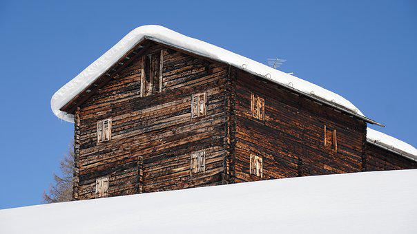 Hut, Barn, Cabin, Snow, Wood, Resort, House, Shed, Old