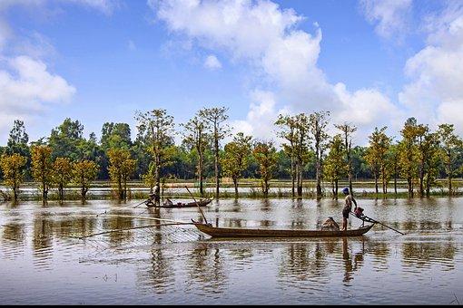 River, Water, Vietnam, Landscape, Beautiful, Sky, Blue