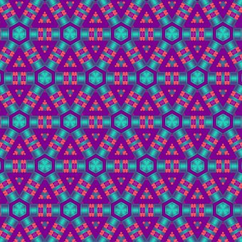 Violet, Geometric, Floral, 3d, Pattern, Metallic, Blue