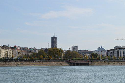 Riverbank, City, River, Buildings, Water, Cityscape