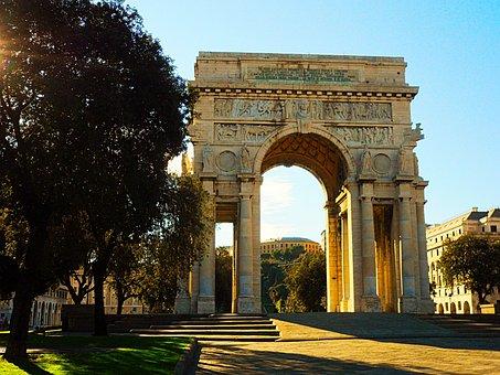 Victory Arch, Architecture, Genoa, Liguria, Italy, City