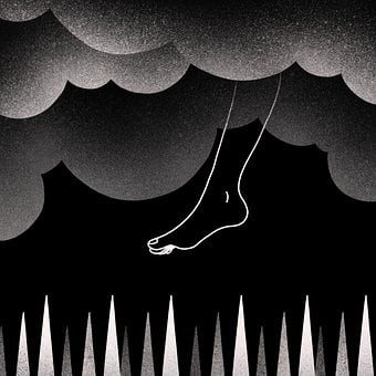 Footstep, Thorns, Traps, Clouds, Difficulties, Concept