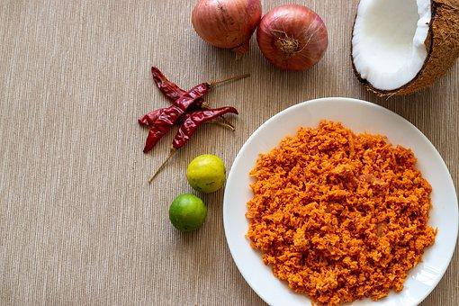 Plate, Chili, Coconut, Chilli, Dish, Spice, Food, Spicy