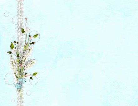 Background, Frame, Digital Paper, Lace, Flowers