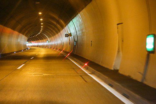 Tunnel, Road, Lights, Speed, Traffic, Driving A Car