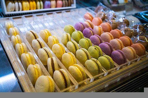 Macarons, Desserts, Cafe, Food, French Macarons