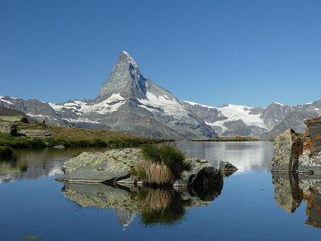 Switzerland, Zermatt, Matterhorn, Mountain, Reflections