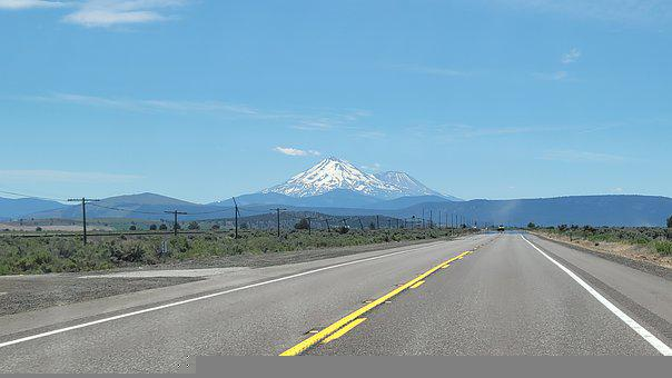 Volcano, Road, Highway, Mountains, Panorama, Landscape