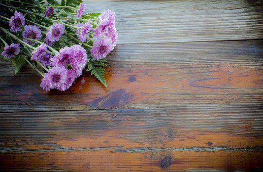 Rustic Background, Blank Space, Greeting Card, Flowers