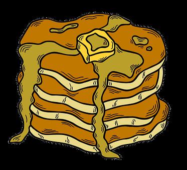 Pancakes, Hotcakes, Pastry, Dessert, Sweet, Bake