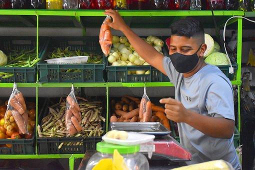 Store, Vegetables, Produce, Shop, Vegetable Shop, Man