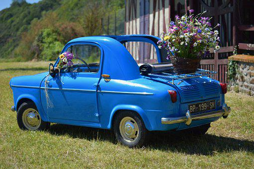 Vespa400 Car, Automobile, Vintage, Old Car, Vehicle