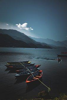 Nature, Boats, Boat, Sunset, Water, Lake, Reflection