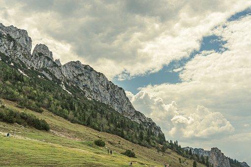 Mountains, Sky, Clouds, Kampenwand