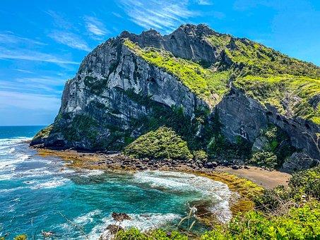 Cliff, Beach, Sea, Mountain, Coast, Coastline, Ocean