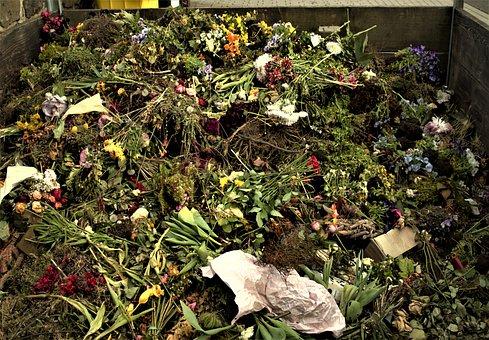 Organic Waste, Flowers, Cemetery Garbage, Plastic Waste