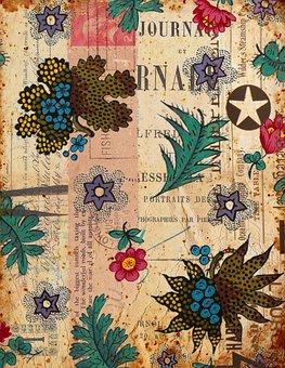 Flowers, Junk Journal, Scrapbook, Pattern, Leaves