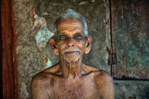 India, Man, Elderly, Old, Person, Human, Guru, Face