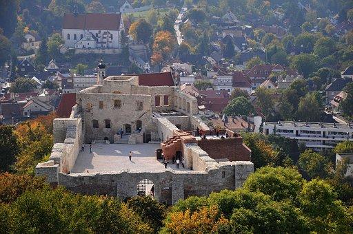 Poland, Kazimierz, City, Castle, Fort, The Ruins Of The
