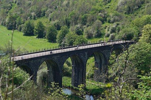 Bridge, Viaduct, Structure, Architecture, Derbyshire