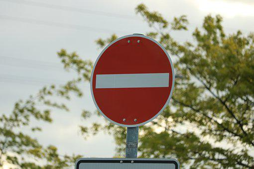 Ban, One Way Street, Street Sign, Traffic, Red