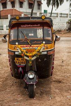 Rickshaw, Auto, Vehicle, Sandy Beach, Transport