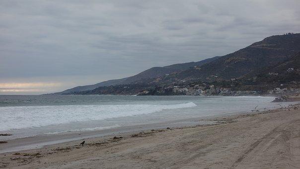 Beach, Sea, Sky, Sunset, Vacations, Sand, Nature, Coast