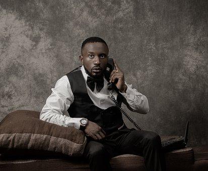 Black Man, Portrait, Suit, Formal Attire, Fashion