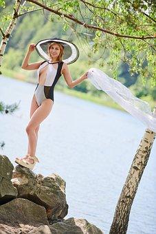 Woman, Model, Swimsuit, Portrait, Swimwear