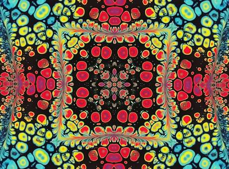 Colorful, Rosette, Mandala, Ornament, Decorative