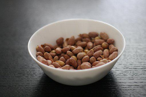 Peanuts, Bowl, Nuts, Snack, Food, Healthy, Tasty