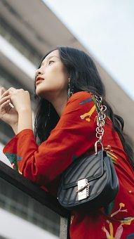 Portrait, Model, Girl, Asian, Woman, Young Woman