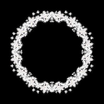 Wreath, Lace, Petal, Decoration, Frame, Border