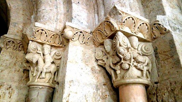Chapitels, Column, Monastery