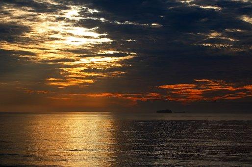 Sunrise, Sea, Clouds, Sky, Horizon, Ocean, Water