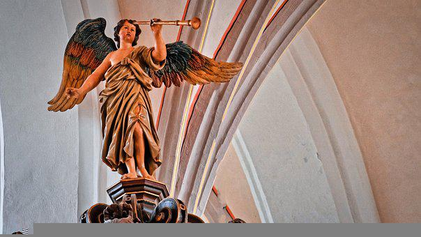 Angel, German Flag, Hdr, Church, Architecture, Statue