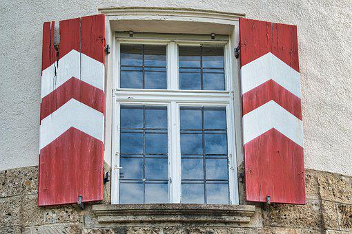 Window, Shutters, Old, Historically, Architecture