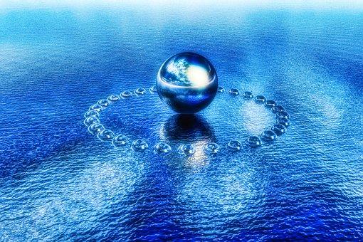 Balls, Water, Reflection, Sphere, Round, Lake, Sea